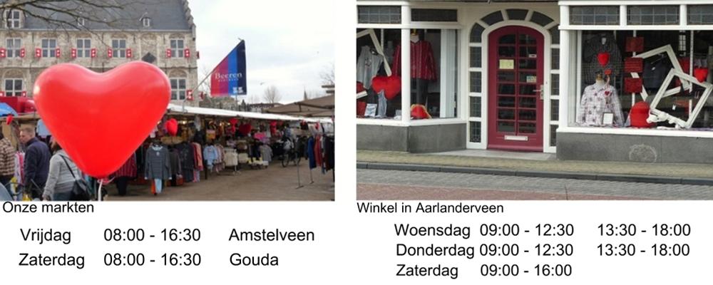 Onze markten en winkel