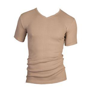 Beeren heren T-shirt korte mouw V-hals huid