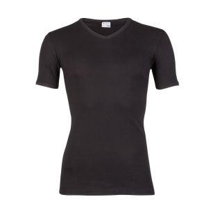 Beeren heren T-shirt korte mouw V-hals zwart