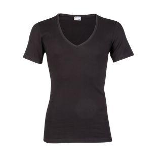Beeren heren T-shirt korte mouw Diepe V-hals zwart
