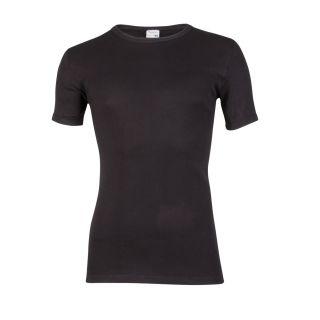 Beeren heren T-shirt korte mouw ronde hals zwart