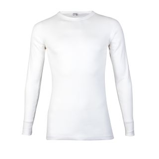 Beeren heren T-shirt Lange Mouw wit